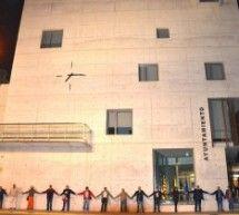Protesta en Binéfar contra la Ley de Reforma de las Administraciones Locales