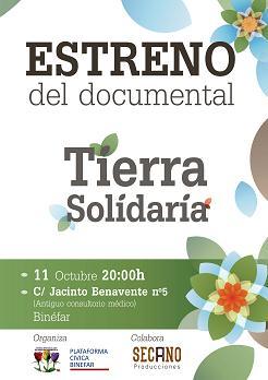 Los huertos solidarios de Binéfar estrenan documental