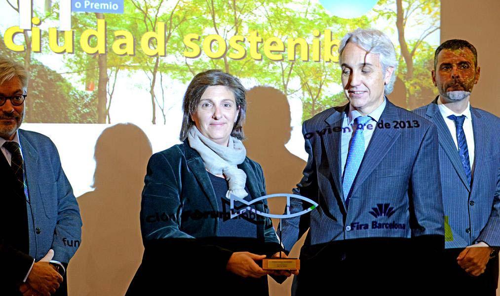 Binéfar recibe el premio Ciudad Sostenible en la categoría de educación ambiental