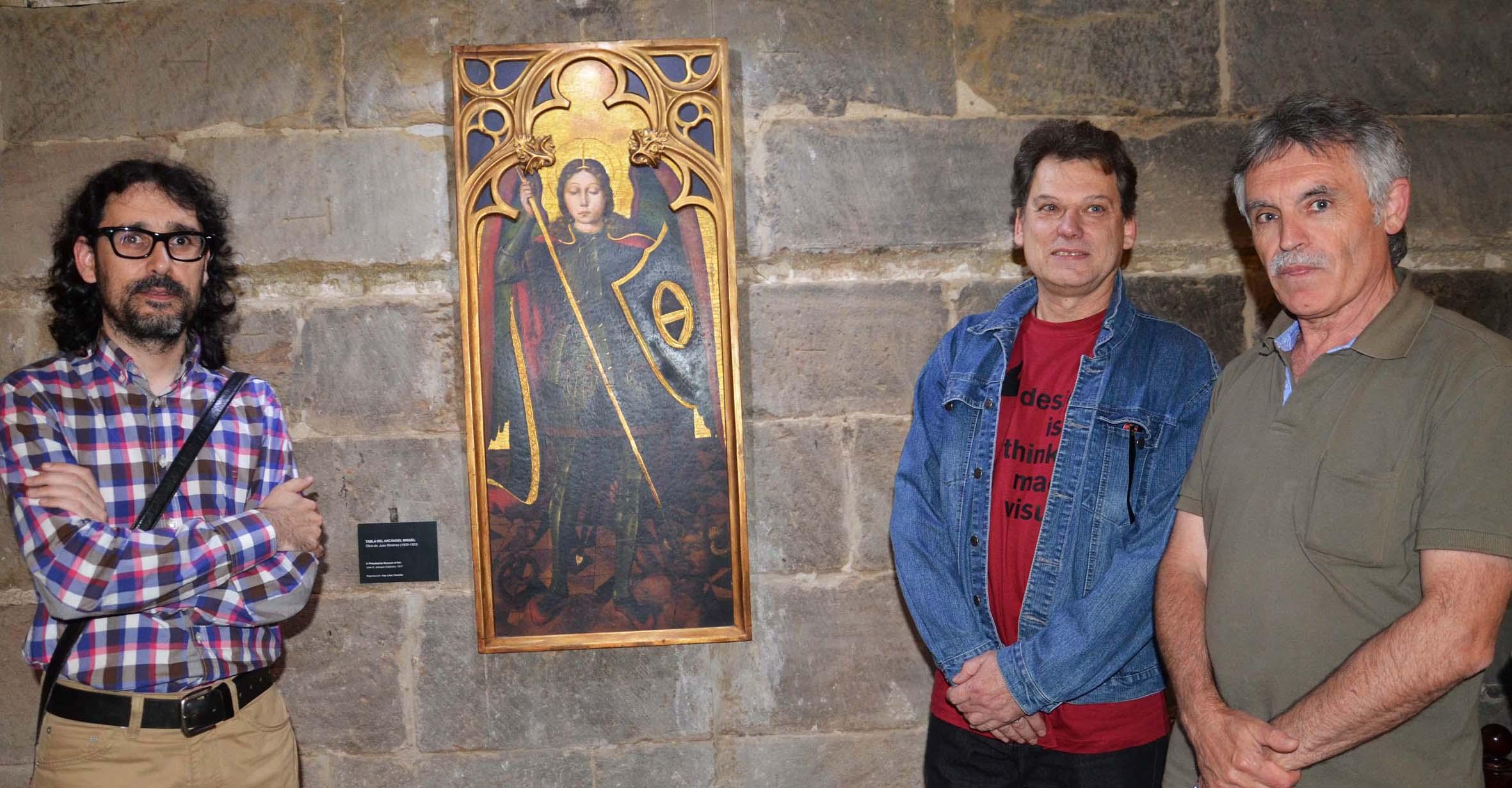 La reproducción de la tabla de San Miguel ya luce en Tamarite