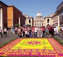 Las Alfombras de Tamarite lucen en Roma
