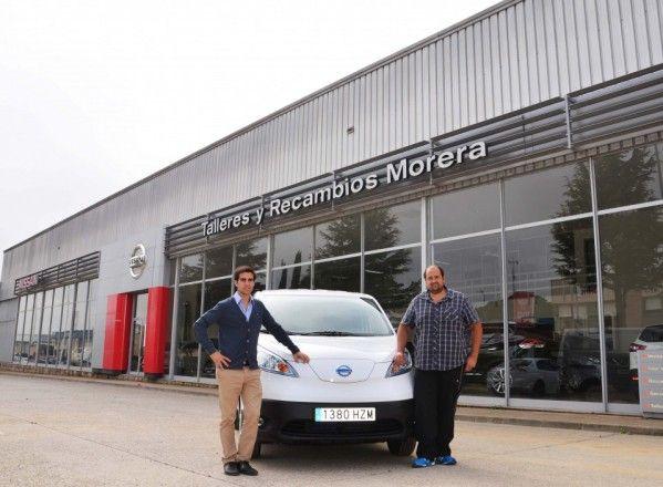 Talleres y Recambios Morera vende la primera furgoneta eléctrica de Aragón