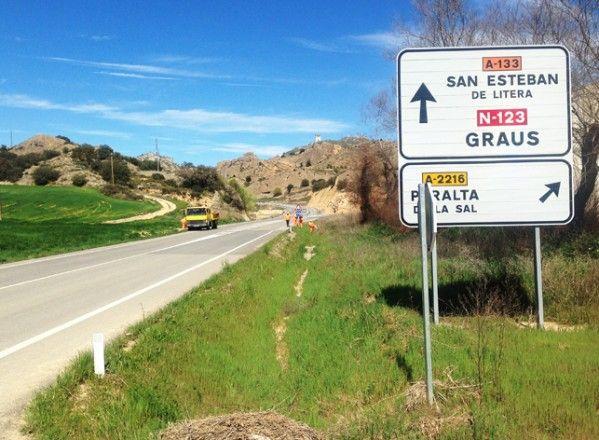El Ayuntamiento de San Esteban de Litera denuncia los desperfectos que vuelven a aparecer en la A133