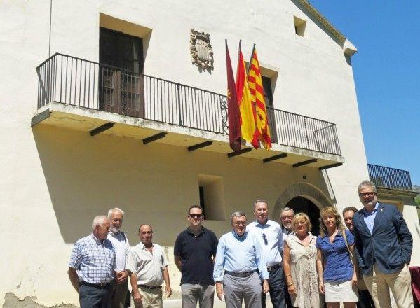 Visita del alcalde de Lleida, Ángel Ros, a Castillonroy