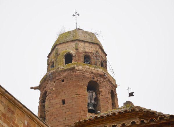 Albelda sigue a la espera de las obras en la torre del campanario