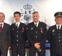 Máximo reconocimiento para los policías locales Díez y Brusau