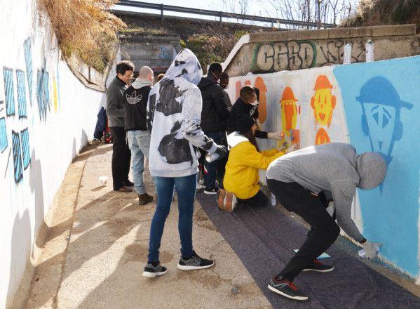 Arte urbano y seguridad para los escolares