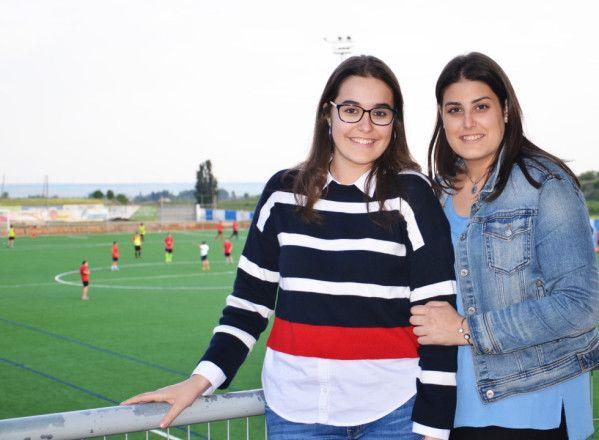 """Alba y Esther, """"hermanas"""" del fútbol y del CDJ Tamarite"""