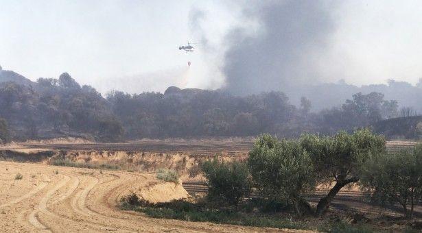 Incendio controlado en San Esteban de Litera