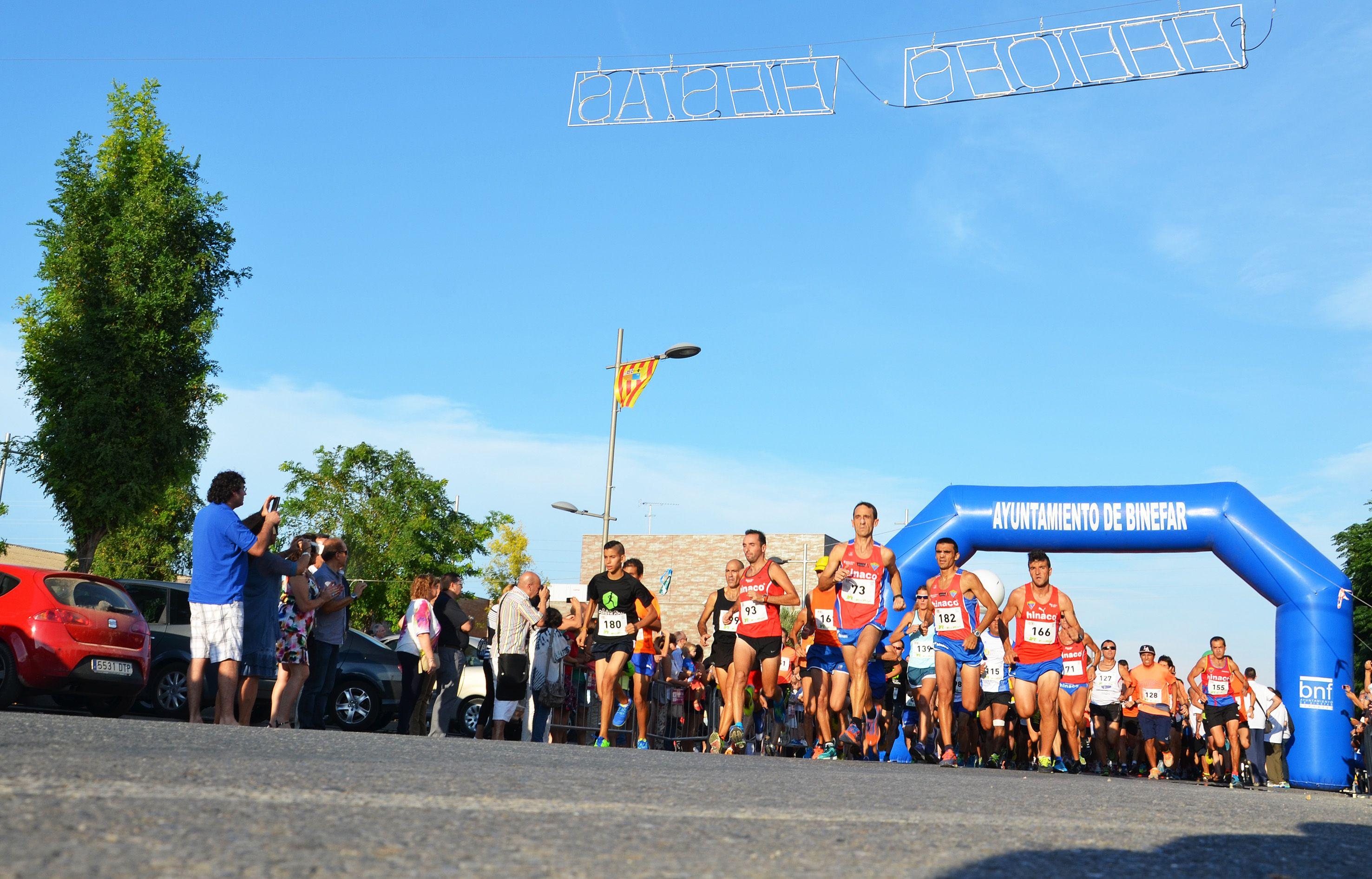 Carlos Oriach y Nuria Sierra, los mejores en la I Carrera 10 km de Binéfar