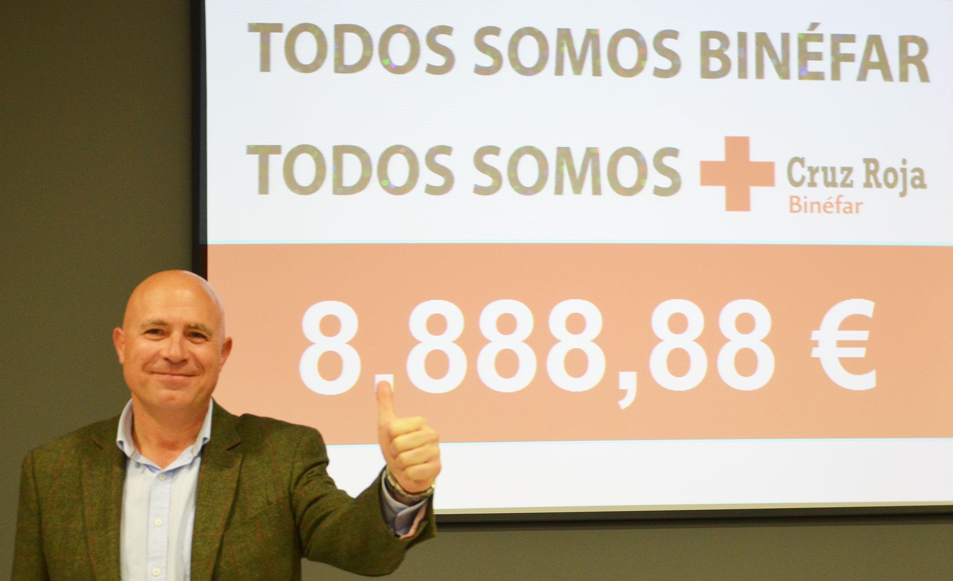 Ocho mil ochocientos ochenta y ocho euros de solidaridad